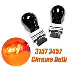 T25 3057 3157 4157 Front Turn Signal Light Amber Chrome Bulb A1 For Linco Satu A
