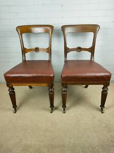 A Pair of Antique Victorian Salon Chairs in Oak by Gillows of Lancaster