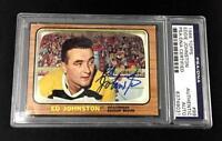 ED JOHNSTON SIGNED 1966 TOPPS BOSTON BRUINS CARD #99 PSA/DNA 83749031