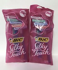 (2) BIC Silky Touch Disposable Razors-10ct. Each (20 Razors Total)