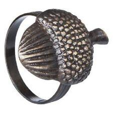 Threshold Napkin Ring Holders Acorns Fall Metal Bronze Set 4 Table Decor New