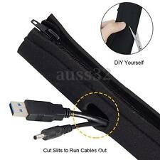 4 Cable Management System Sleeve Wrap TV Power Cable Cord Cover Hider Organizer
