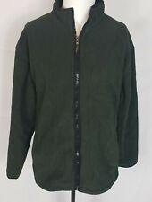 Mens IZOD Perform X  Dark Green Fleece Full Zip Jacket Parka sz XL