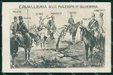 WW1 Propaganda Cavalleria Guerra Uniformi Sebia Gibelli Foto cartolina XB5636