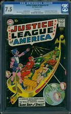 Justice League of America 3 CGC 7.5 WP Silver Age Key DC 1st Kanjar Ro L@@K IGKC