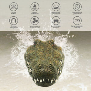 2.4G Remote Control Crocodile Head Boat RC Racing Outdoor Toy for Pool Lake H5C1