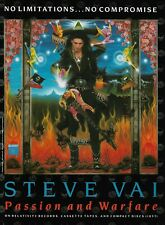 Steve Vai Ibanez Passion And Warfare 1990 8x11 Promo Poster Ad