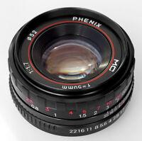 PHENIX 50mm F1:1,7 MC-manuell-Fokus-Objektiv für Canon EOS EF-M Kamera