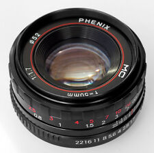 PHENIX 50mm F1:1.7 MC Manual Full Frame LENS f/ SONY NEX ILCE E mount Camera