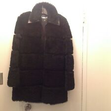 BARBARA BUI SHEARLING BLACK COAT SZ 40/MEDIUM