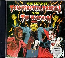 THE STORY OF FRANKENSTEIN, DRACULA & THE WOLFMAN: HALLOWEEN STORIES & SOUNDS CD!