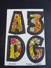 Rare A&BC GUM 1970 trade card LOVE INITIAL  A 3 D G   letter initials EXCELLENT