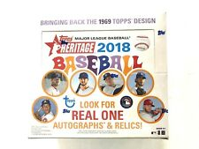 2018 TOPPS HERITAGE BASEBALL RETAIL BOX (READY TO SHIP LIVE!!)