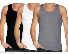 Mens Gaffer Brand Multi Pack Lot Basic Regular Fit Cotton Vest Tank Top