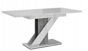 Extensible Table 120-160 Blanc Glanzbeton Table de Salle à Manger Cuisine