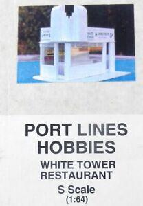 Port Line Hobbies S 1:64 Scale WHITE TOWER RESTAURANT MODEL KIT ~ T106