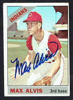 Max Alvis #415 signed autograph auto 1966 Topps Baseball Trading Card