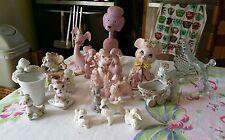 15 Vintage Porcelain Lot Poodle Spaghetti, Salt & Pepper, Mouse, Dogs Japan