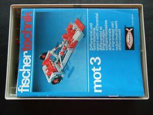 Vintage Collectible Fischertechnik mot 3 set | STEM toy