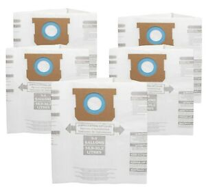 For Shop-Vac 90661 Bag Type E for 5-8 Gallon Vacuum - 9066100 Bags (5 Pack)
