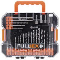 Wellcut Hex Drill & Screwdriver Bit Set 49 Piece With Quick Change Bit Holder