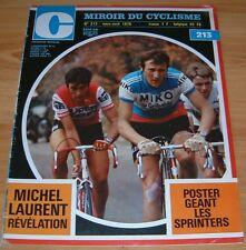 MIROIR CYCLISME N°213 1976 SPRINTERS SPRINT HET VOLK PARIS-NICE M. LAURENT PISTE