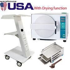 New Listingautoclave Steam Sterilizer 18l Drying Sterilizationmobile Built In Medical Cart