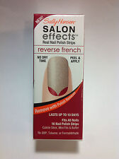 Sally Hansen Salon Effects #003 RED MY TULIPS Nail Polish Strips Reverse French.