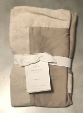One New Pottery Barn Tencel Simply Taupe Standard Pillow Sham