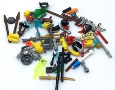 LEGO LOT OF MINIFIG ACCESSORIES TOOLS WEAPONS CASTLE SWORDS EXTRA PARTS