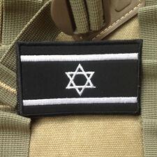 Israel Country Flag Patches Israeli Flag 3D Embroidered Hook & Loop Patch