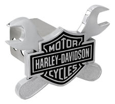 Harley-Davidson Bar and Shield and Wrenches Trailer Tow Hitch Cover Plug