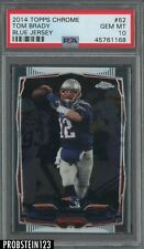 2014 Topps Chrome Tom Brady New England Patriots Blue Jersey PSA 10