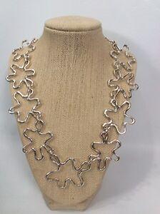 Stunning AC Studio Angela Cummings Modernist sterling Silver 925 Collar necklace