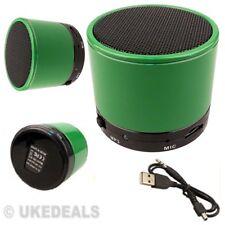 Altavoz Verde para PC iPad MP3 MP4 Mini Portátil De Audio Estéreo Bluetooth Inalámbrico