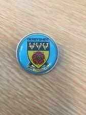 Derbyshire Heraldic Shield - Metal And Plastic Uk Tourism Badge