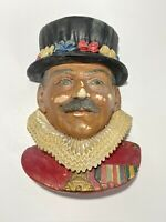 '82 The Beefeater Legend Products England Chalkware Head Wall Hanging