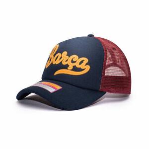 FC Barcelona Retro Trucker Baseball Hat Fan Ink Officially Licensed