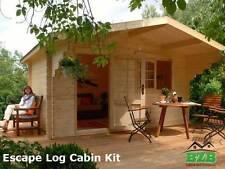 "BZB Escape Log Cabin Kit, 12'x9',Inside: 113 SQF, 1-3/4"" Logs, Free Shipping !"
