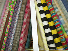 Wholesale Lot Bundle Checks & Striped Prints Cotton 10 Yards