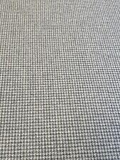 Harris Tweed Wolf Tooth Atlantic Crag Grey 100% Wool  Fabric 2.4 Metre / Labels