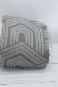 Hotel Collection Textured Hexagon KING Duvet Cover Grey Cotton $420 New