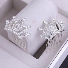 1pcs Korean Mini Exquisite Children Hair Comb Shiny Diamante Crown