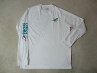Under Armour Miami Dolphins Long Sleeve Shirt Adult Medium White Green Mens *