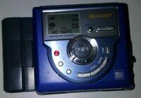Sharp MD-MS721H BL MD MiniDisc Portable Digital Recorder Lecteur mini disc