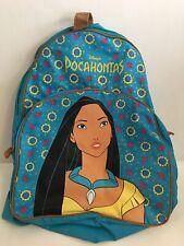 Vintage 90s Disney Pocahontas Kids Girls Backpack Book Bag 90s Rare