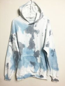 NWT Abercrombie & Fitch Men's Pullover Tie Dye Multicolor Hoodie Oversized L