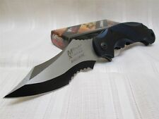 MTech Xtreme Ballistic Black Blue Spring Assisted Tactical Flipper Pocket Knife