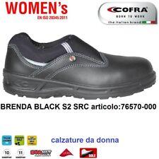 SCARPE ANTINFORTUNISTICA COFRA BRENDA BLACK S2 SRC pantofola calzature da donna