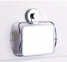 Wall Suction Mirror Chrome Shower Shaving Bathroom Travel Makeup Cosmetic Bath